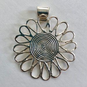 Jewelry - Sterling Silver Flower Pendant